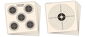 Alvos de papel descartáveis Hatsan